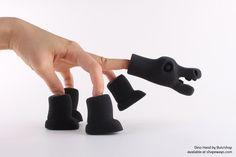 3D Printed Black Elasto Plastic