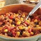 Swanson(R) Black Bean, Corn and Turkey Chili Recipe