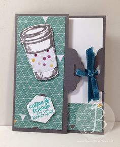 Scallop Tag Topper punch closure card using the Stampin' Up! Perfect Blend stamp set and the Moonlight DSP stack.