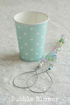 DIY beaded bubble blower - fun for little girl's especially. :)