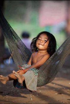 lucki face, hammock, kid