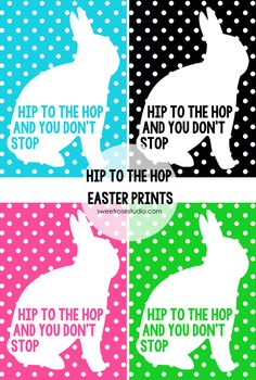 Hip to the Hop Easter Prints at Sweet Rose Studio :: A little bit fun and funky and a whole lotta FREE for your spring decor!
