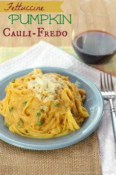 Fettuccine Pumpkin Cauli-Fredo  www.PersonalTrainerBradenton.com