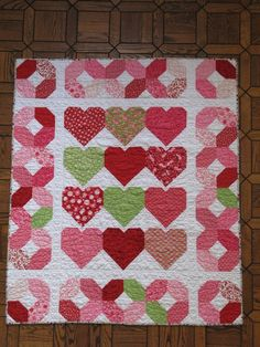 Sweetheart Valentine Quilted Throw