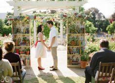 book themed wedding