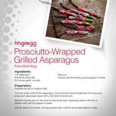 Looking for something other than your average vegetable as a side dish? Try these Prosciutto-Wrapped Grilled Asparagus for a unique twist on your next dinner. #FoodieFriday