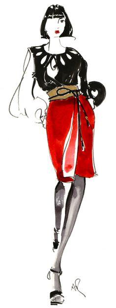 Diane von Furstenberg fashion-illustration