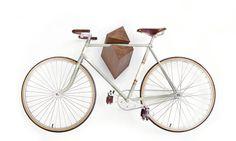 """Oak Wood Bike Hanger """"Elk"""" by Woodstick Ltd. bike hanger, oak wood, woodstick, bicycl, hanger elk, bike rack, wood bike, hangers, design"""