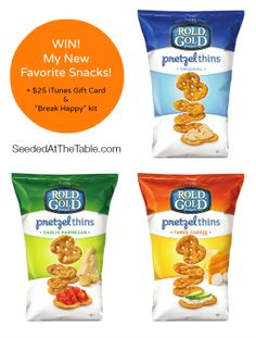 WIN! Six big bags of new Rold Gold Pretzel Thins + $25 iTunes Gift Card! @Seeded at the Table   Nikki Gladd #giveaway