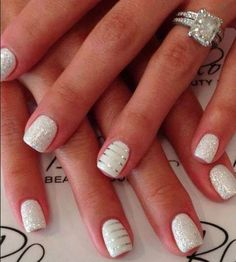 Wedding nail design?21 Cute And Trendy Nail Designs for Summer