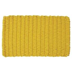 Cape Cod Doormat by CAPE COD DOORMATS. $69.95. Reversible. Choice of sizes. Quick-drying and stain-resistant. Yellow, 100% polypropylene. Traps dirt, sand, and snow. Cape Cod Doormat. Cape Cod Doormats are tough wearing and long-lasting. Top quality polypropylene cordage has thousands of fibers that remove dirt from the soles of boots and shoes and will withstand years of heavy traffic. Reversible, colorfast, mildew- and insect-resistant. Hose clean and quick drying. Availabl...