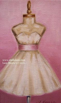 Ivory Dress with Pink Sash
