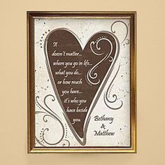 Personalized love quote in gold so it would be perfect for your parents 50th but also great for any anniversary celebration