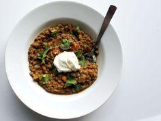 Coconut Curried Sweet Potato and Lentil Stew #vegan #glutenfree