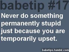 Babe tips :)
