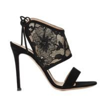 Gianvito Rossi Lace-Inset Sandals