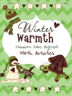 Fun Math pack for the Winter season! This is a great packet for fast finishers, extra review of common core concepts and it's fun for students!