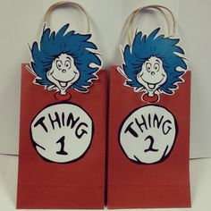 Thing 1 and thing 2 Party Favor Bags  Kids by SoSweetCandyBuffets, $15.00