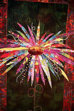 Love it! applique flower quilt