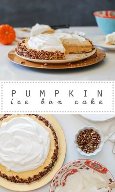 Pumpkin Ice Box Cake