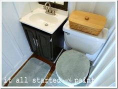 How to paint a bathroom sink