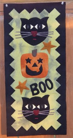"""The Frightful Gang, 12 x 26"""", finished quilt at Joined at the Hip"""