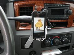 Car mount for smartphone.