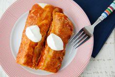 Sweet Potato Black Bean Enchiladas on Weelicious