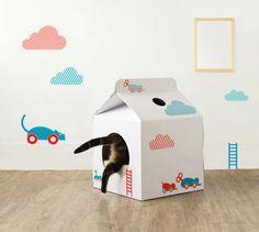Milk Box Carton Shaped Pet House