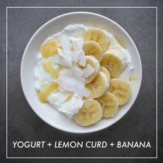 Yogurt + Lemon Curd + Banana // shutterbean