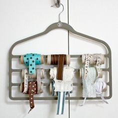 ribbon storage, idea, toilet paper rolls, ribbon organ, ribbons, papers, craft room, hangers, organ ribbon