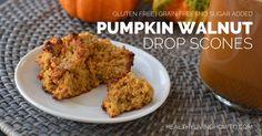 Pumpkin Walnut Drop Scones