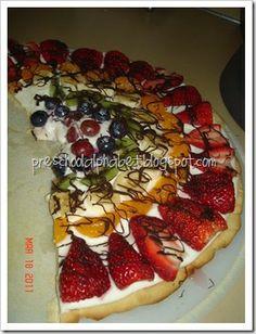 Fruit pizza for rainbow theme.