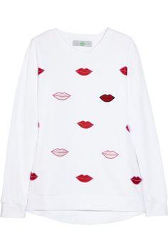 sweatshirt embellished with lips