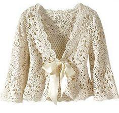Beautiful crochet cardigan. Charts included.