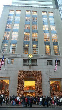 Tiffany Co Christmas in New York City.