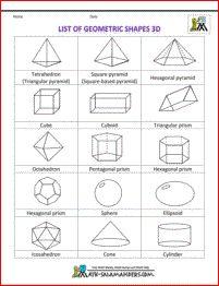 Printable geometric shapes 3d