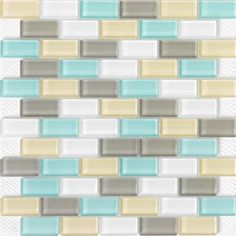 Glass subway tile 1x2 Hamptons matte tile blend perfect for any tile backsplash ideas