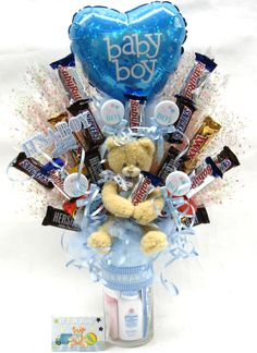 """It's A Boy"" Candy Bouquet."