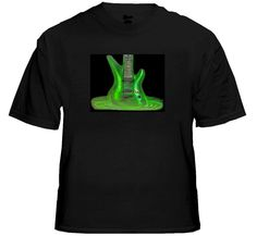 Plasma Guitar Sound Reactive EQ Shirt. The T-Shirt has a built-in graphic equalizer with a wide spectrum sensor controller to detect the true rhythm frequency and beat of music. Price $24.99