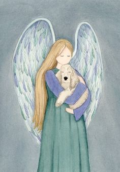 When dogs go to heaven there are angels awaiting