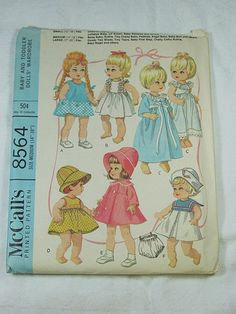 Vintage 60s BABY  Toddler DOLL PATTERN by LavenderGardenCottage etsy  $6.00