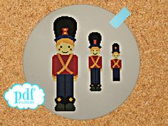 Toy Soldiers cross stitch or needlepoint pattern. by cupcakecutie1