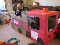 Fire Truck Dramatic Play - Things to Share and Remember