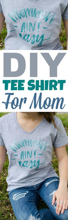 Looking  for a fantastic Mother's Day gift idea? You can't go wrong with making this Cricut Gift Idea – A Mother's  Day Iron-On T-Shirt. #mothersday  #mothersdaydiycrafts #mothersdaygifts #gifts #giftideas #giftsformom  #giftsforher #crafts #teen #teens #teencrafts #craftsforteens  #craftideasforteens #cricut #diecutting #cricutmaker #diycricut #cricutideas  #diycricutprojects #cricutprojects #cricutcraftideas #diycricutideas