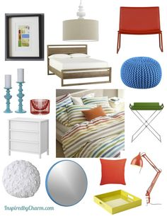 Modern and colorful Bedroom Design Board via Inspired by Charm @Apartment Guide Official