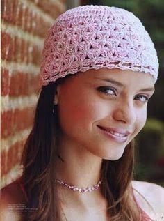 Beanie free crochet pattern - symbols only