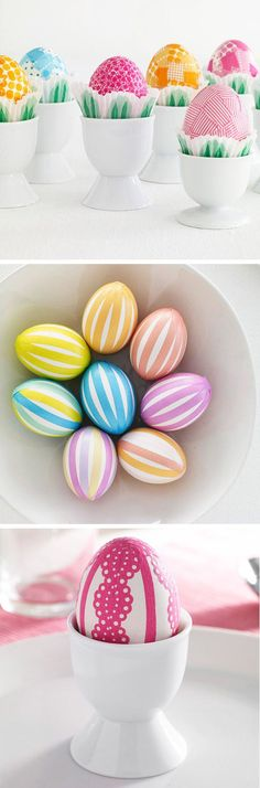 Washi Tape Easter Eggs #easter #DIY #crafts #decoration #ideas