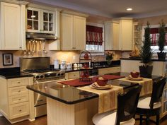 Red & Cream Kitchen