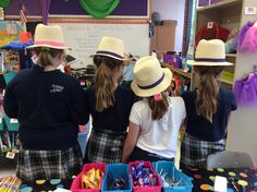 Some very sassy 4th graders celebrating a well earned incentive~  Backwards day!